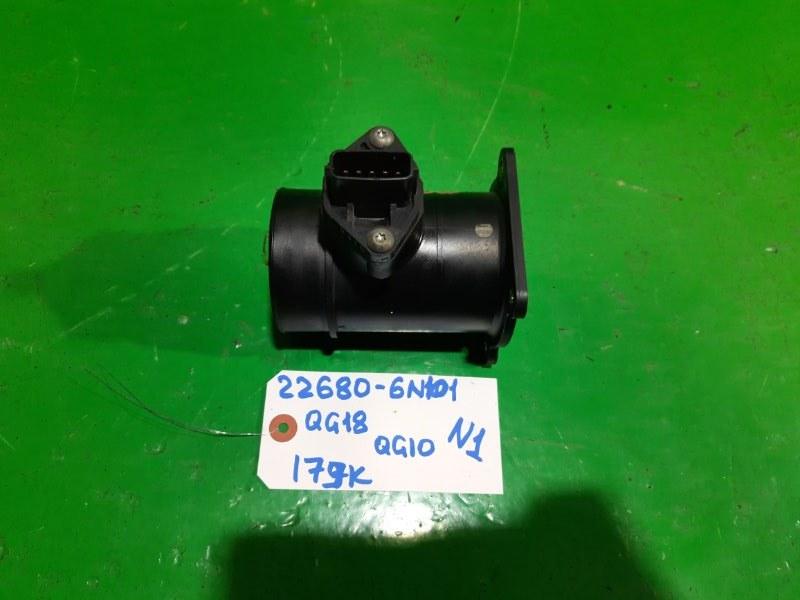 Датчик потока воздуха Nissan Bluebird Sylphy QG10 QG18-DE (б/у) N 1