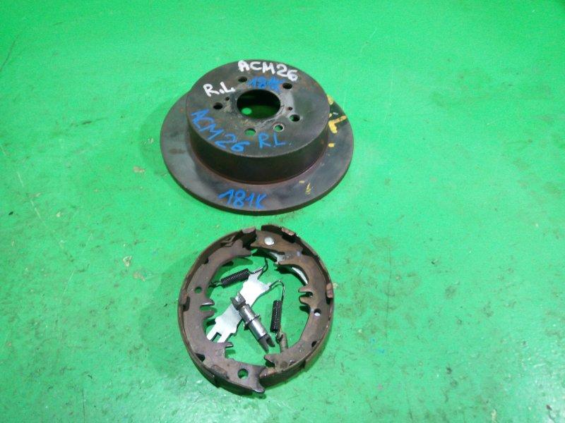 Тормозной диск Toyota Ipsum ACM26 2AZ-FE задний левый (б/у)