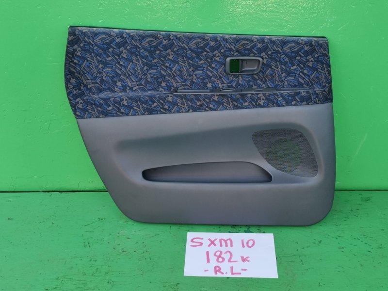 Обшивка дверей Toyota Ipsum SXM10 задняя левая (б/у)
