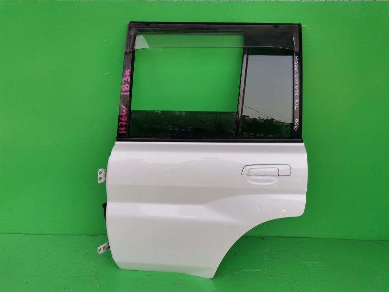 Дверь Mitsubishi Pajero Io H76W задняя левая (б/у)