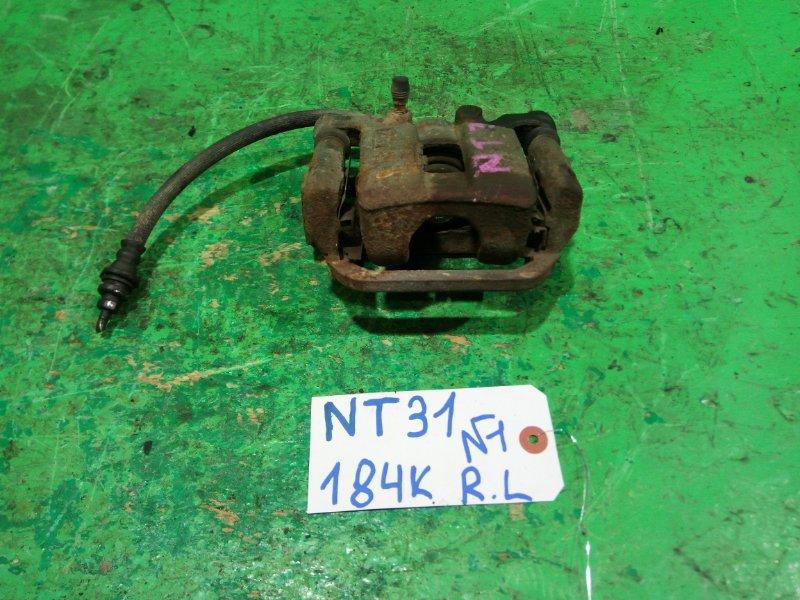 Суппорт Nissan Xtrail NT31 задний левый (б/у) №1