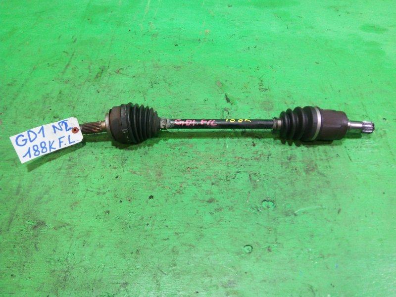 Привод Honda Fit GD1 передний левый (б/у) №2