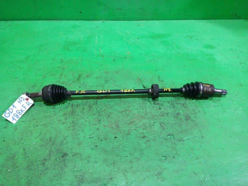 Привод Honda Fit GD1 передний правый (б/у) №2