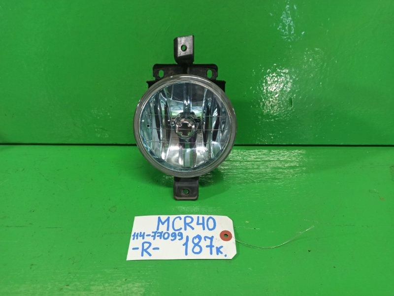 Туманка Toyota Estima MCR40 правая (б/у)