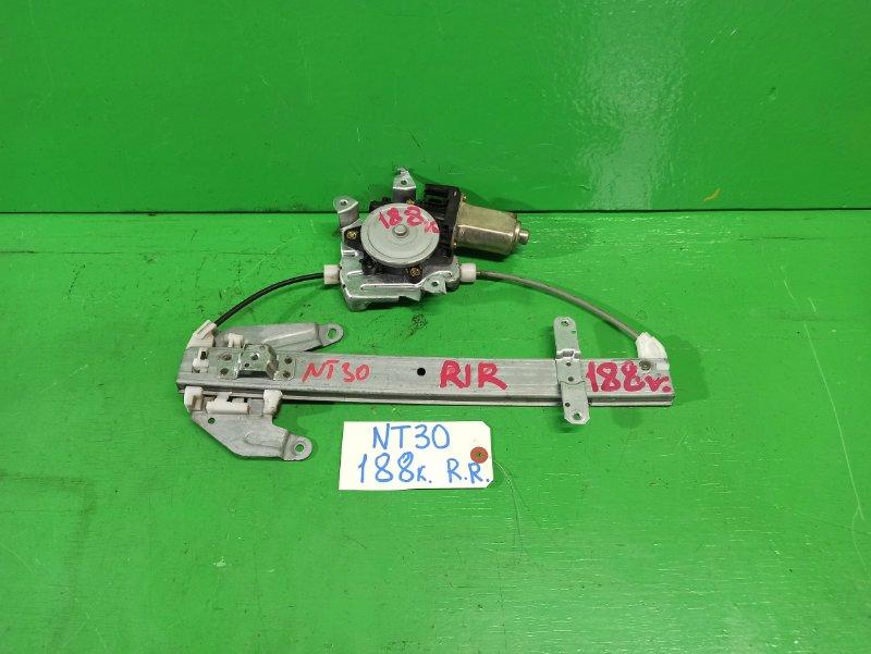 Стеклоподъемник Nissan Xtrail NT30 задний правый (б/у)