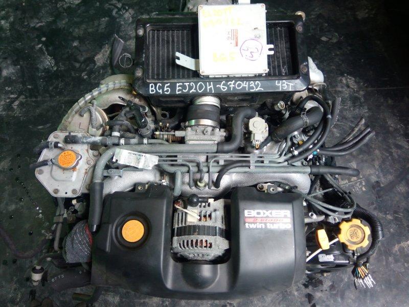 Двигатель Subaru Legacy BG5 EJ20H 1996 (б/у)