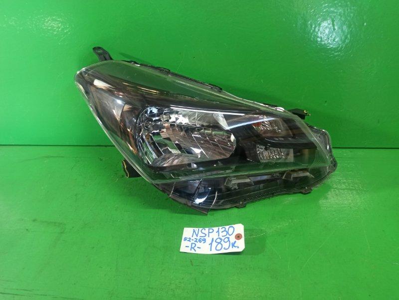 Фара Toyota Vitz NSP130 правая (б/у)