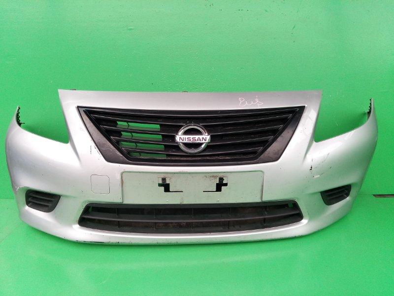 Бампер Nissan Latio N17 передний (б/у)