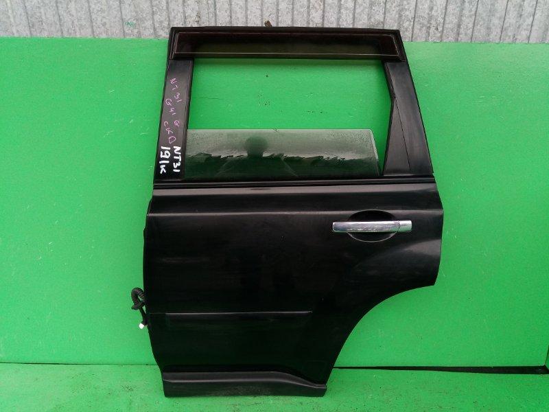 Дверь Nissan Xtrail NT31 задняя левая (б/у)