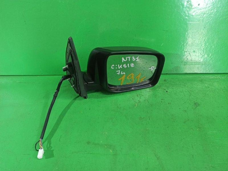 Зеркало Nissan Xtrail NT31 правое (б/у)