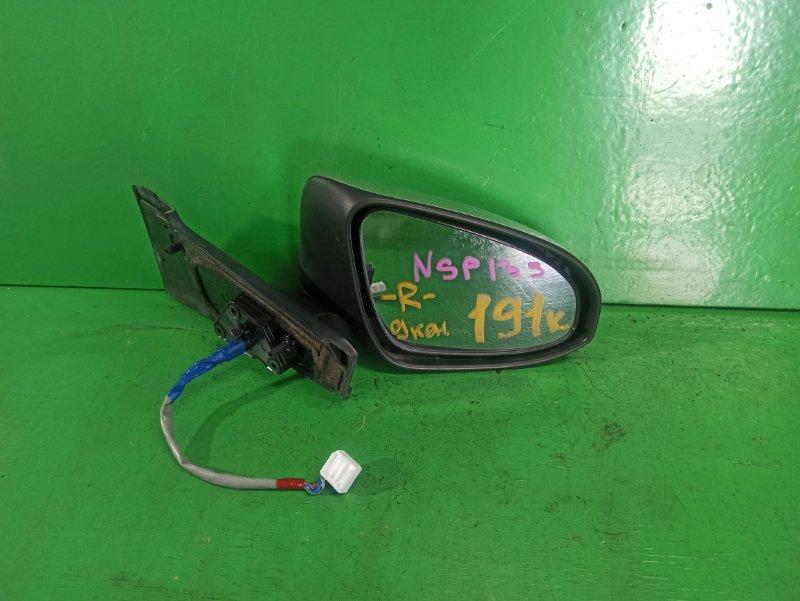 Зеркало Toyota Vitz NSP135 левое (б/у)
