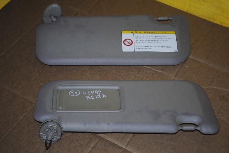 Козырек солнцезащитный Toyota Belta NCP96 правый (б/у)