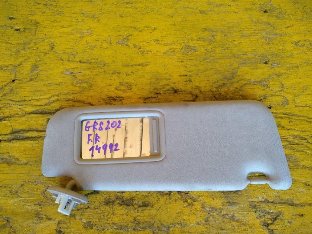 Козырек солнцезащитный Toyota Crown GRS200 3GRFSE передний правый (б/у)
