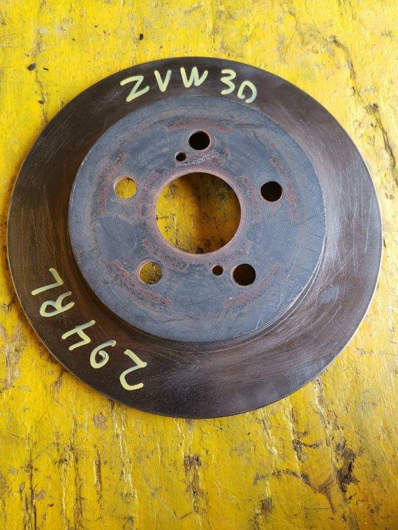Тормозной диск Toyota Prius ZVW30 2ZRFXE задний (б/у)