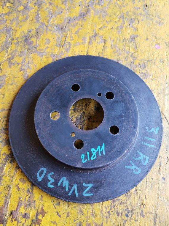 Тормозной диск Toyota Prius ZVW30 2ZR-FXE задний правый (б/у)