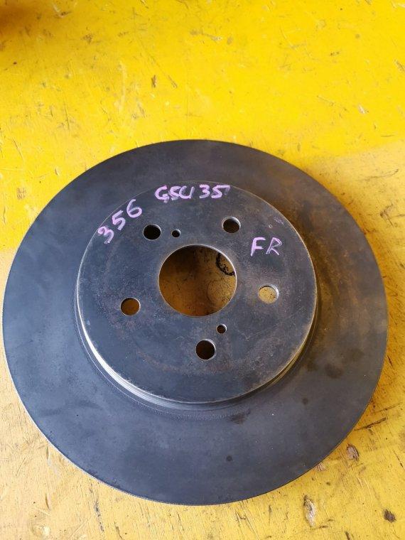 Тормозной диск Toyota Harrier GSU35 2GR-FE передний правый (б/у)