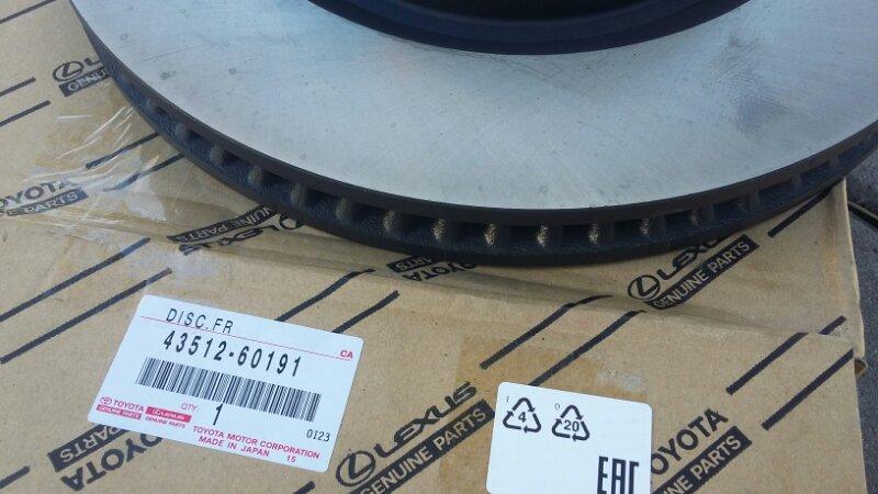 Тормозной диск Toyota Land Cruiser Prado 150 2TRFE передний toyota 43512-60191
