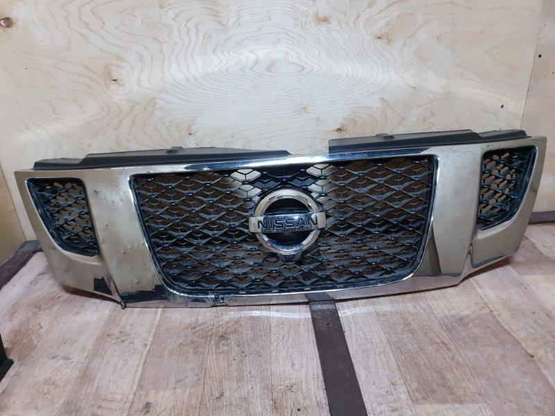 Решетка радиатора Nissan Patrol Y62 VK56VD 2013 передняя (б/у)