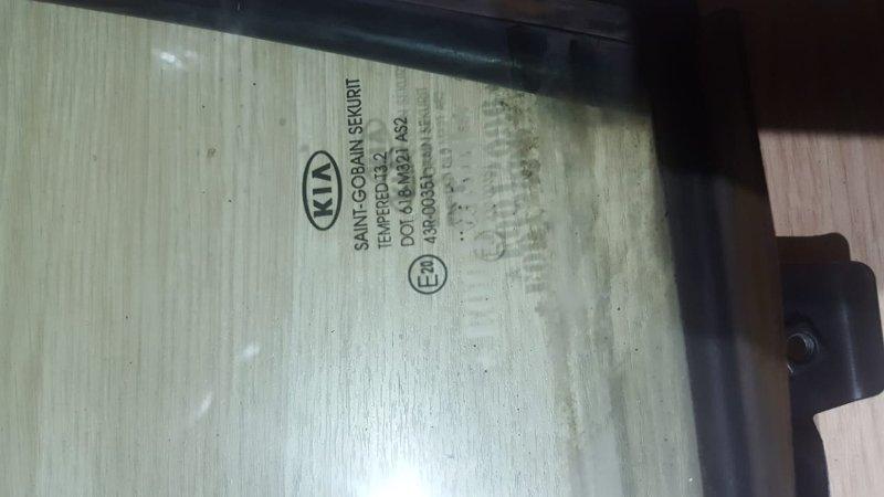 Форточка двери Kia Sportage III 2.0 150 Л.С 2015 задняя левая (б/у)
