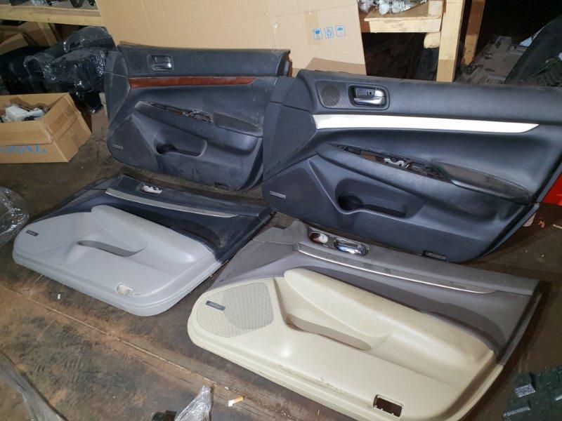 Обшивка двери Infiniti G V36 3.5 315 Л.С 2008 передняя правая (б/у)