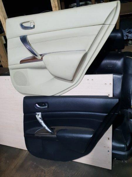 Обшивка двери Nissan Teana J32 2.5 182 Л.С 2013 задняя правая (б/у)