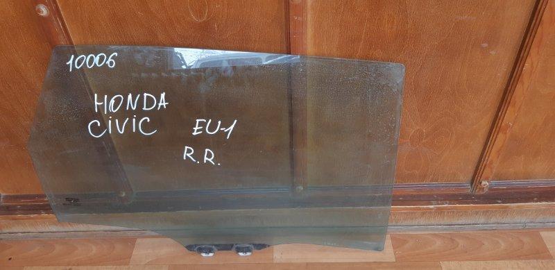 Стекло двери Honda Civic EU1 D15B2 заднее правое (б/у)