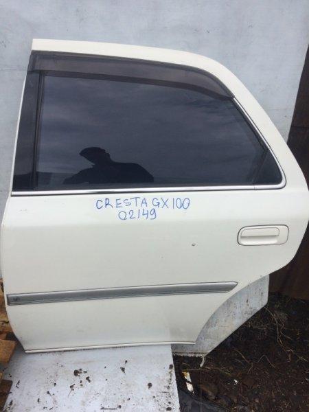 Дверь Toyota Cresta JZX100 задняя левая (б/у)