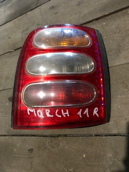 Стоп сигнал Nissan March AK11 задний правый (б/у)