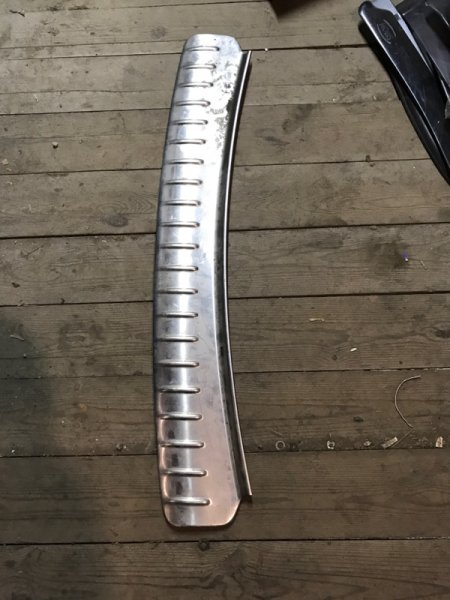 Накладка на бампер Porsche Cayenne задняя (б/у)