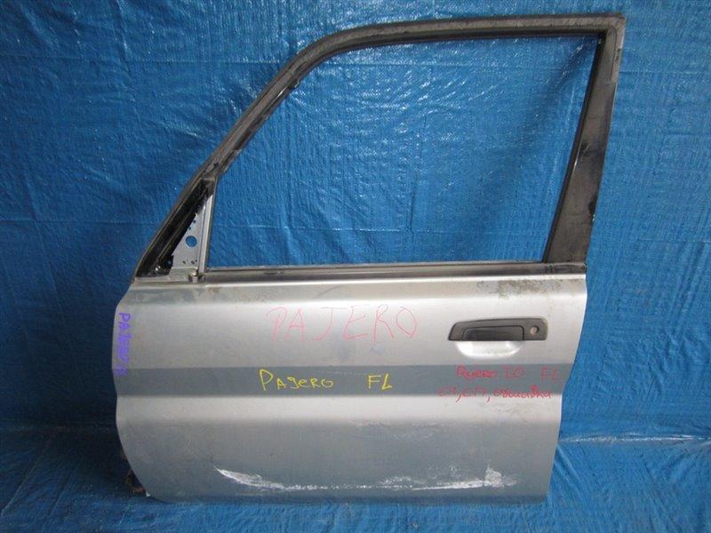 Дверь Mitsubishi Pajero Io H61W передняя левая (б/у)