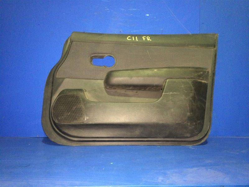 Обшивка дверей Nissan Tiida C11 передняя правая (б/у)