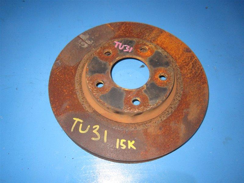 Тормозной диск Nissan Presage TU31 передний (б/у)