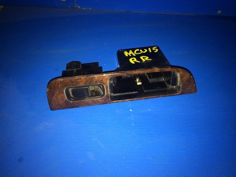 Кнопка стеклоподъемника Toyota Harrier MCU10 задняя правая (б/у)