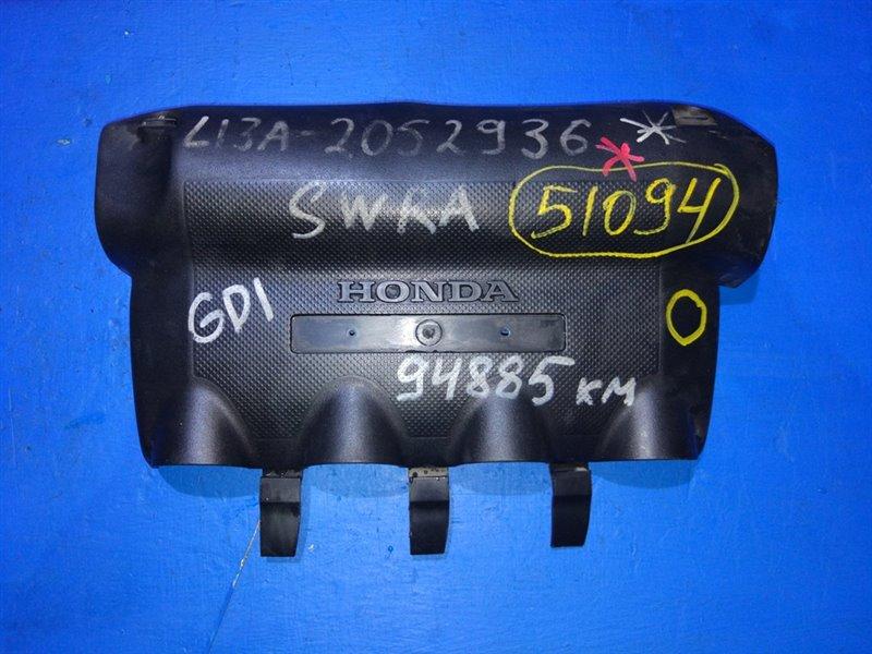 Пластиковая крышка на двс Honda Fit GD1 L13A (б/у)