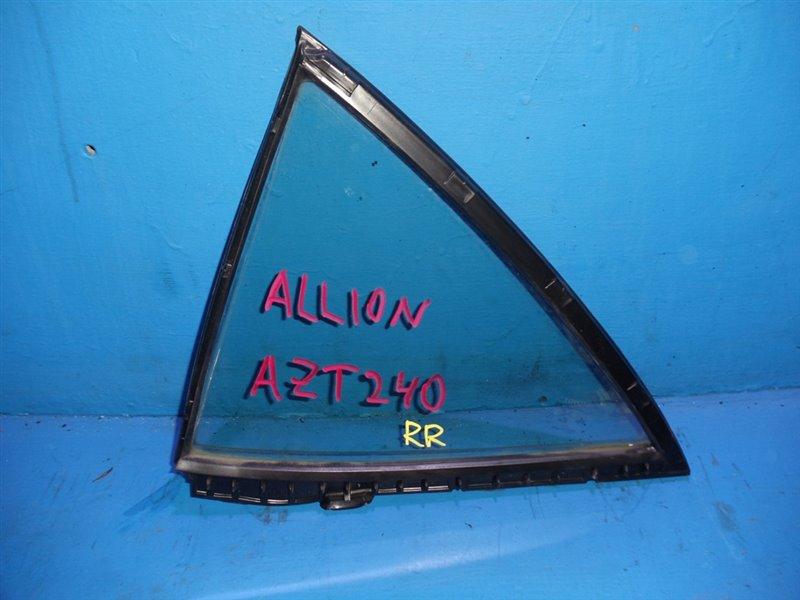 Форточка двери Toyota Allion AZT240 задняя правая (б/у)