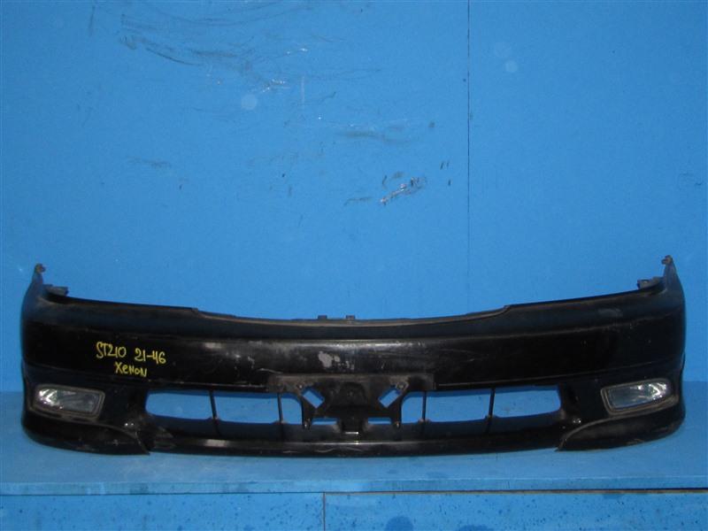 Бампер Toyota Caldina ST210 3SFE 01.2000 передний (б/у)