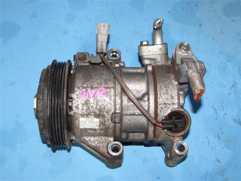 Компрессор кондиционера Toyota Vitz NCP130 1NRFE (б/у)