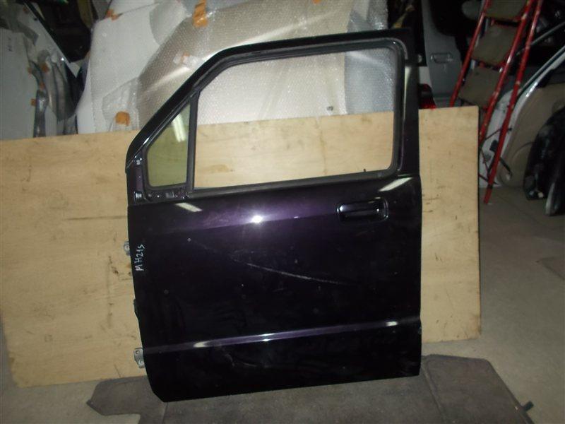 Дверь Suzuki Wagon R MH21S передняя левая (б/у)