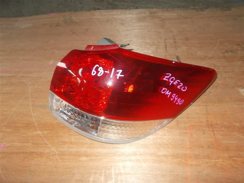 Фонарь задний Toyota Wish ZGE20 2ZR-FAE 2010 правый (б/у)