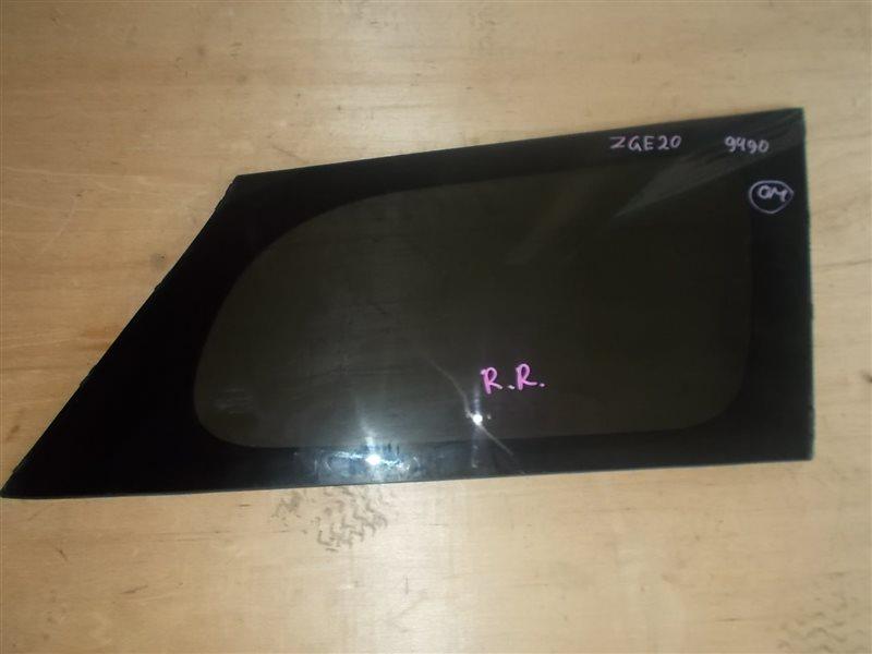 Стекло собачника Toyota Wish ZGE20 2ZR-FAE 2010 правое (б/у)