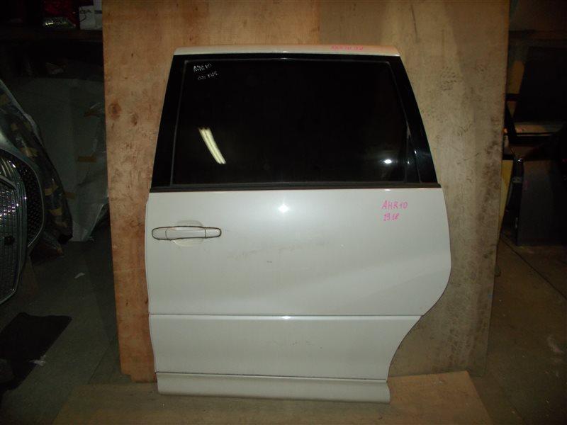 Дверь Toyota Estima Hybrid AHR10 2AZ-FXE 2005 задняя левая (б/у)