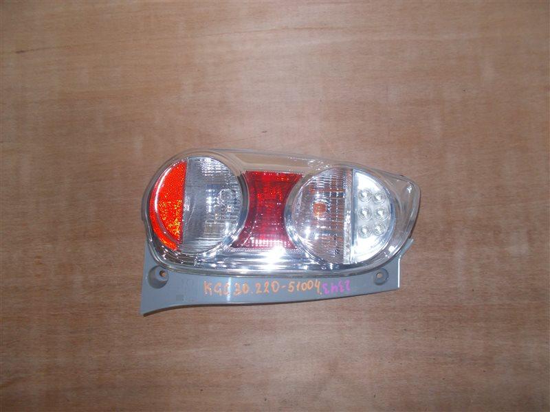 Фонарь задний Toyota Passo KGC30 1KR 2010 левый (б/у)