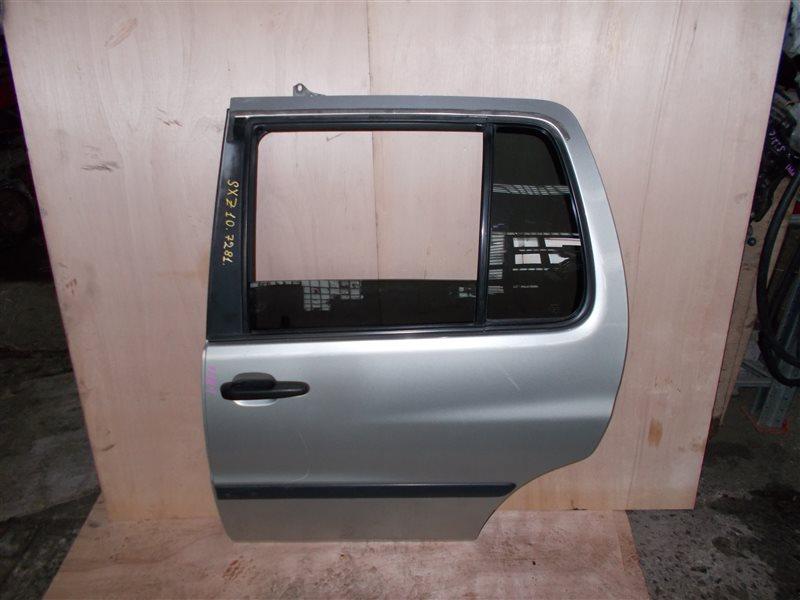 Дверь Toyota Raum EXZ10 5E-FE 2001 задняя левая (б/у)