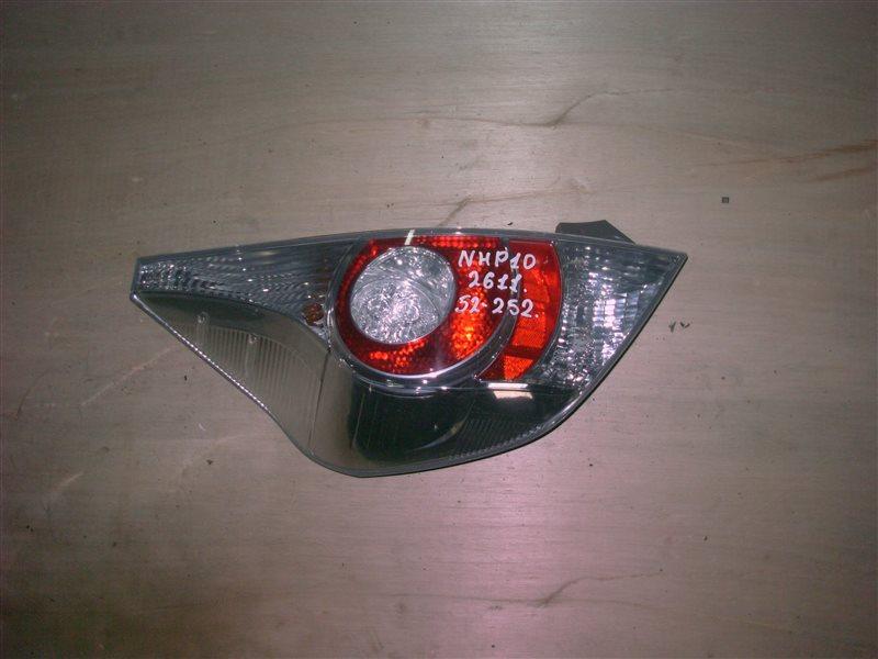 Фонарь задний Toyota Aqua NHP10 1NZ-FXE 2012 левый (б/у)