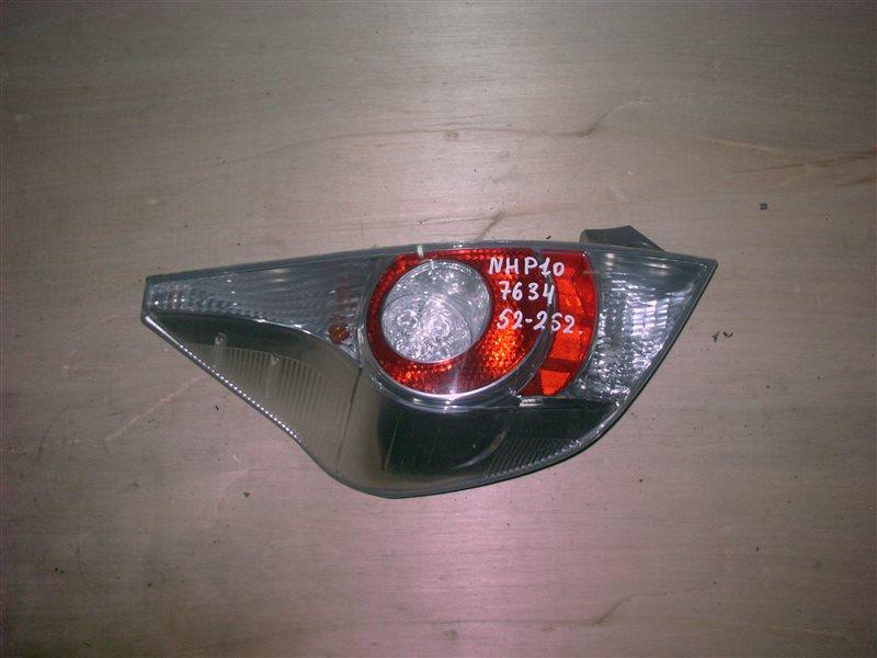 Фонарь задний Toyota Aqua NHP10 1NZ-FXE 2013 левый (б/у)