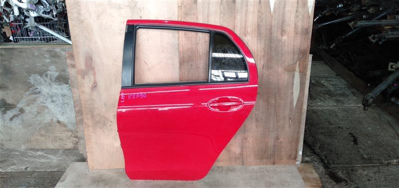 Дверь Toyota Vitz KSP90 1KR 2008 задняя левая (б/у)