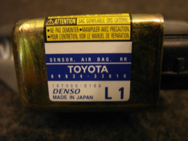Датчик airbag Toyota Camry ACV30 2AZ 2003 задний левый