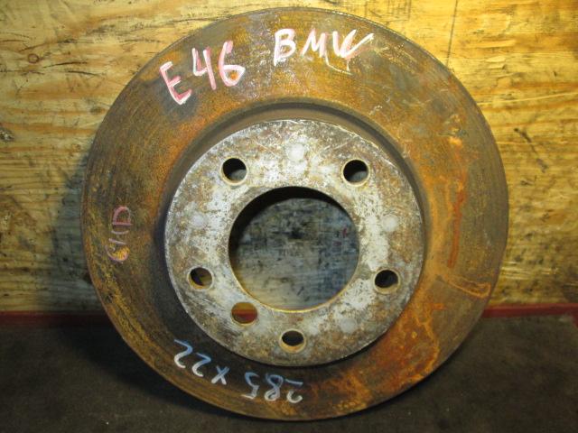 тормозной диск BMW E46 б/у 285/22 передний
