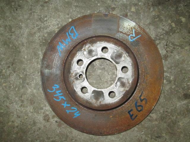 тормозной диск задний BMW E65/E66  б/у 345*24
