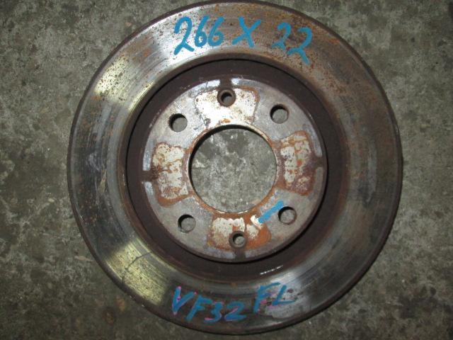 Тормозной диск Peugeot 206 VF32 передний б/у (266х22)